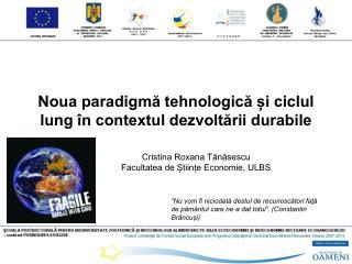 Noua paradigmă tehnologică și ciclul lung în contextul dezvoltării durabile