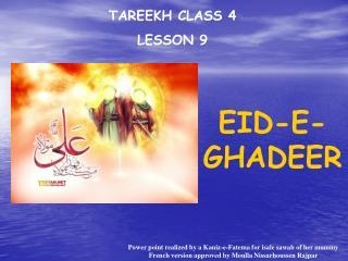 TAREEKH CLASS 4 LE SSON 9