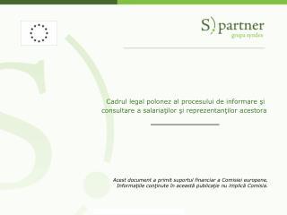 Acest document a primit suportul financiar a Comisiei europene.