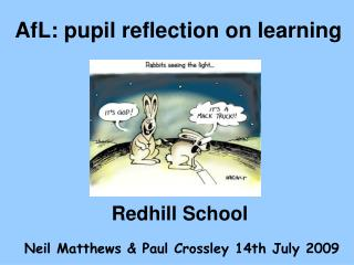 AfL: pupil reflection on learning