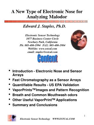 A New Type of Electronic Nose for Analyzing Malodor