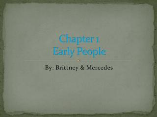 Chapter 1 Early People