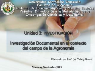 Elaborado por Prof . (a):  Ysbely  Bernal