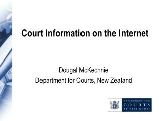 Court Information on the Internet