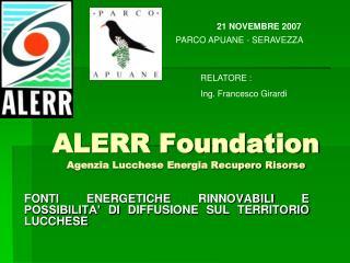 ALERR Foundation Agenzia Lucchese Energia Recupero Risorse
