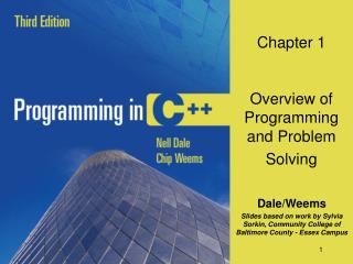 Chapter 1 Overview of Programming and Problem Solving