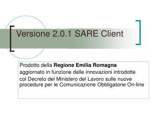 Versione 2.0.1 SARE Client