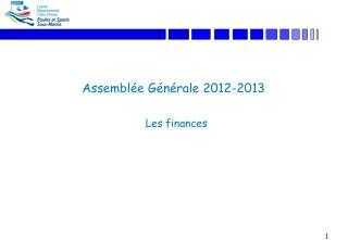 Assemblée Générale 2012-2013