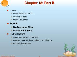 Chapter 12: Part B