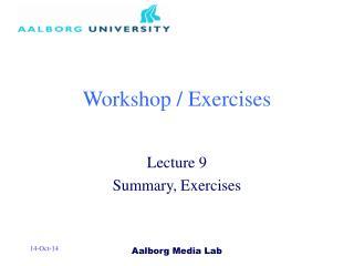 Workshop / Exercises
