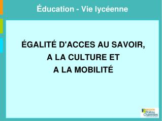 É ducation - Vie lycéenne