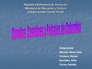 Republica Bolivariana de Venezuela Ministerio de Educación y Cultura Colegio la Salle Tienda Honda
