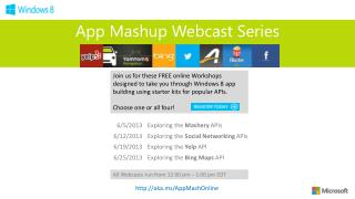 App Mashup Webcast Series