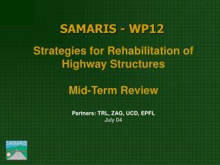 SAMARIS - WP12