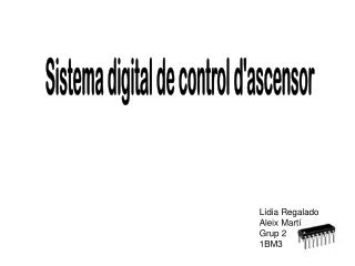 Sistema digital de control d'ascensor