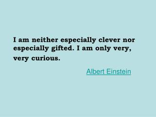 I am neither especially clever nor especially gifted. I am only very, very curious.