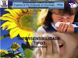 HIPERSENSIBILIDADE TIPO I Sandra Freitas