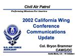 2002 California Wing Conference Communications Update