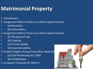 Matrimonial Property