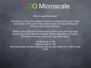 L E G O  Microscale