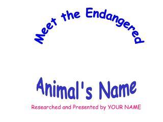 Animal's Name