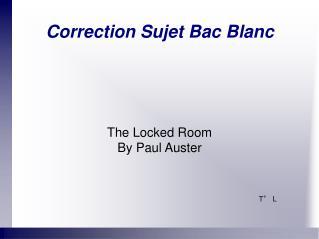 Correction Sujet Bac Blanc