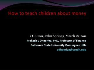 How to teach children about money