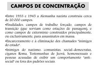 CAMPOS DE CONCENTRA��O