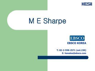 M E Sharpe