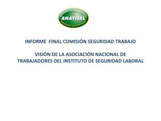 INFORME  FINAL COMISIÓN SEGURIDAD TRABAJO VISIÓN DE LA ASOCIACIÓN NACIONAL DE