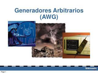 Generadores Arbitrarios AWG