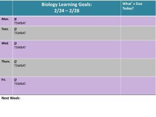 Finals Schedule 2014