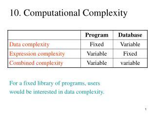 10. Computational Complexity