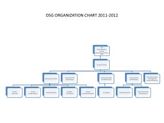 DSG ORGANIZATION CHART 2011-2012
