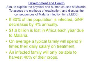 If 80% of the population is infected, GNP decreases by 4% annually.
