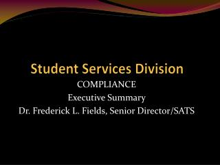 Student  Services Division