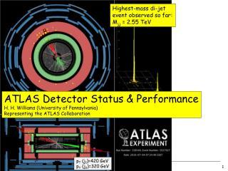 ATLAS Detector Status & Performance H. H. Williams (University of Pennsylvania)