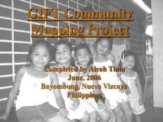 GIFT Community Mapping Project