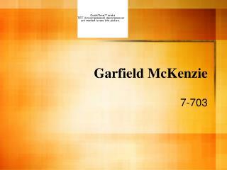 Garfield McKenzie