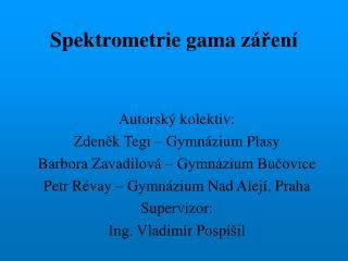 Spektrometrie gama záření