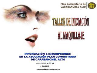 TALLER DE INICIACIÓN  AL MAQUILLAJE