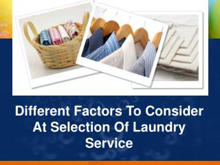 Things to Remember while choosing a Laundry service