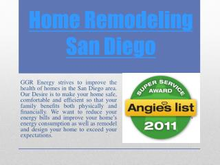 Hire a Home Remodeling San Diego for Home Repair