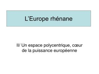 L Europe rh nane