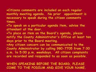 BOARD AGENDA      Regular Meeting PULASKI COUNTY    Monday, November 23, 1998