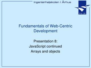 Fundamentals of Web-Centric Development