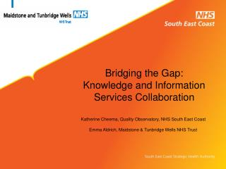 Bridging the Gap: Knowledge and Information Services Collaboration