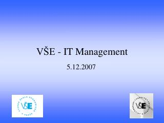 VŠE - IT Management