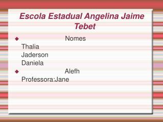 Escola Estadual Angelina Jaime Tebet