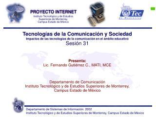 Tecnologías de la Comunicación y Sociedad
